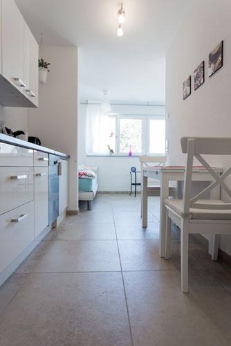 Küche in der Ferienwohnung Nescht