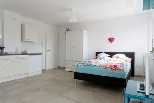 Schlafbereich und Küche