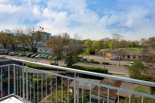 Ausblick vom Balkon der Ferienwohnung Ussicht