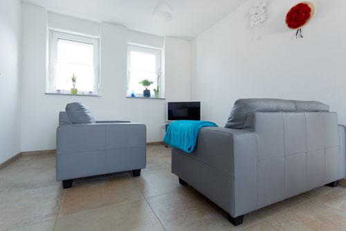 Wohnbereich in der Ferienwohnung Ussicht