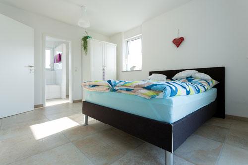 Schlafzimmer in der Ferienwohnung Ussicht